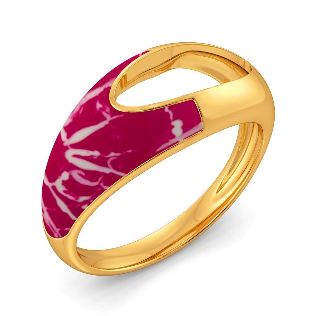 The Pink Wink Gold Rings