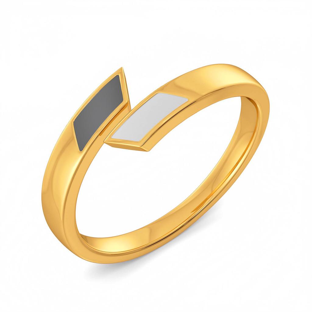 Sharp Shades Gold Rings
