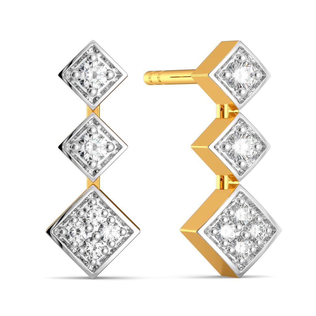 Trinket Trilogy Diamond Earrings