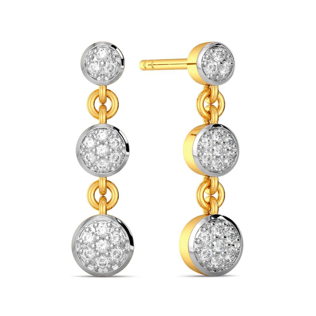 True Troika Diamond Earrings