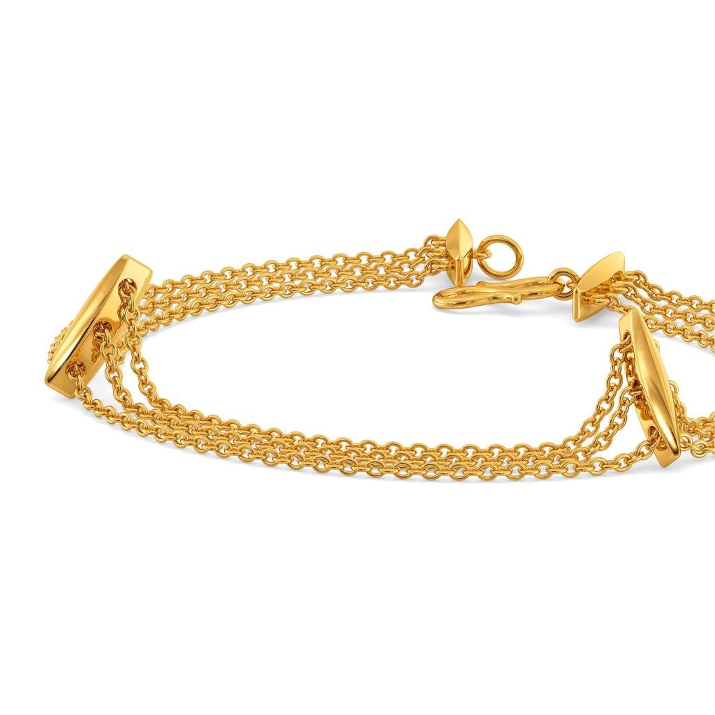 Fancy A Fringe Gold Bracelets