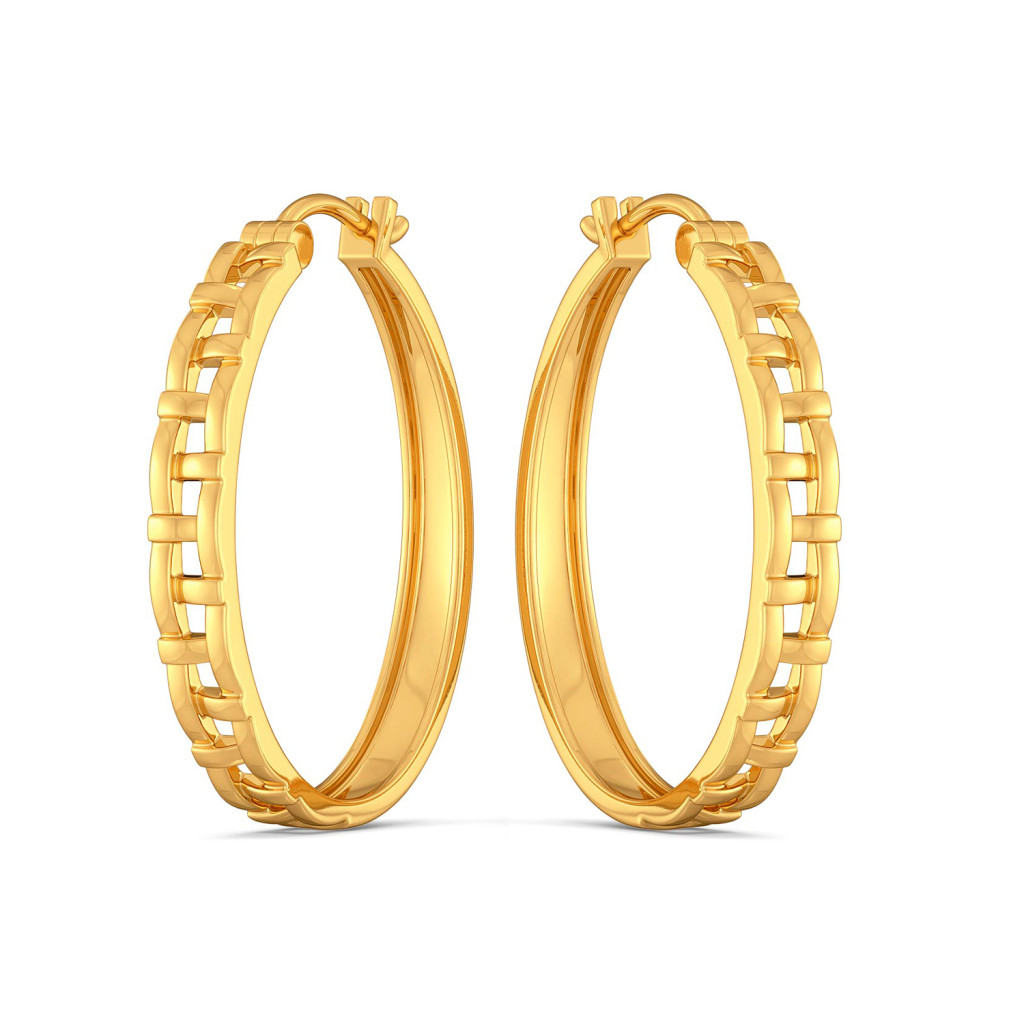Basket Knits Gold Earrings