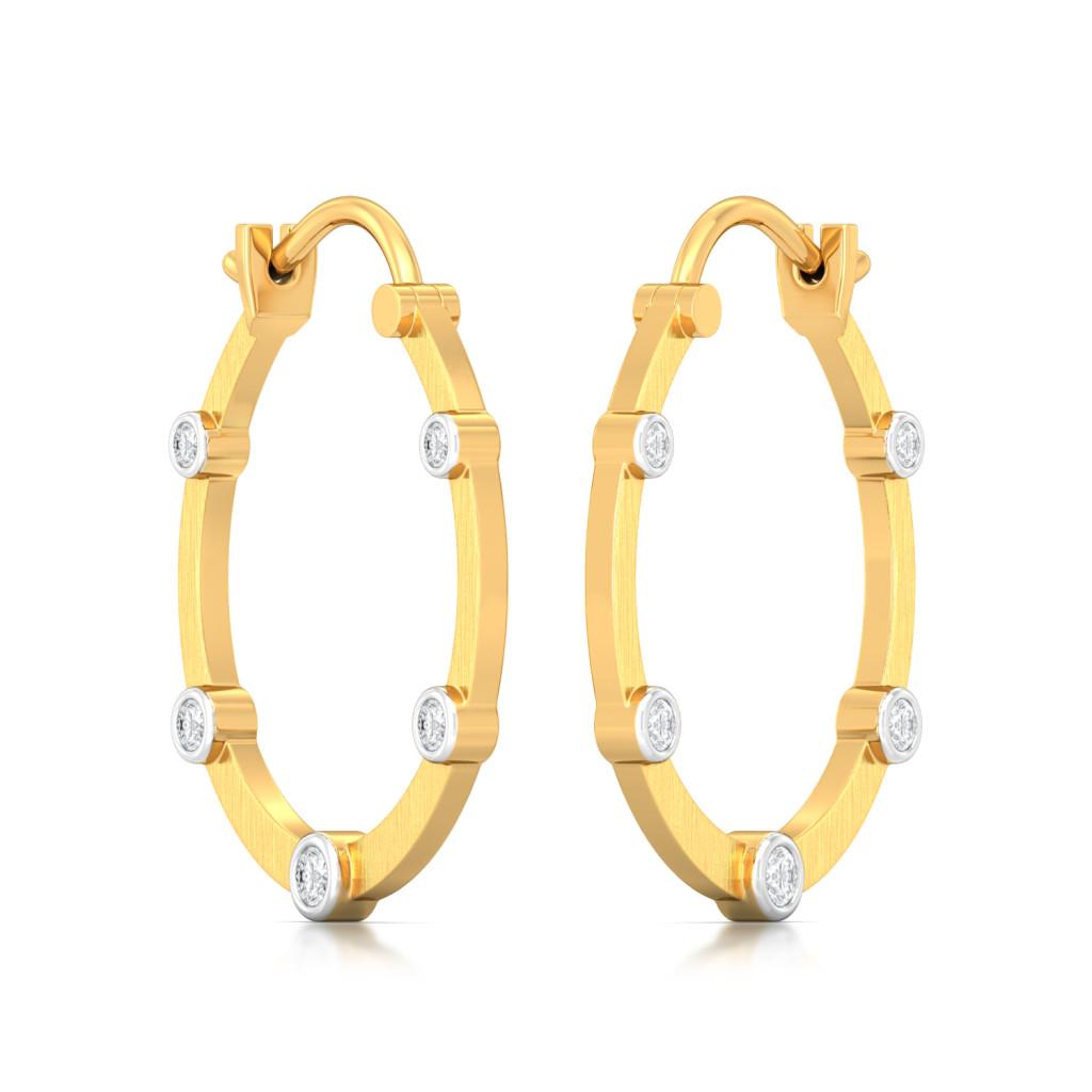 Rustic White Diamond Earrings