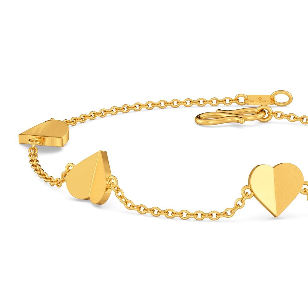 Cold Folds Gold Bracelets Melorra