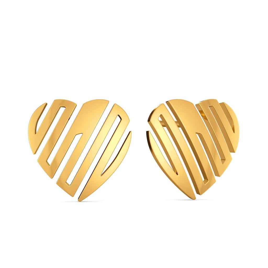 Caring Curls Gold Earrings