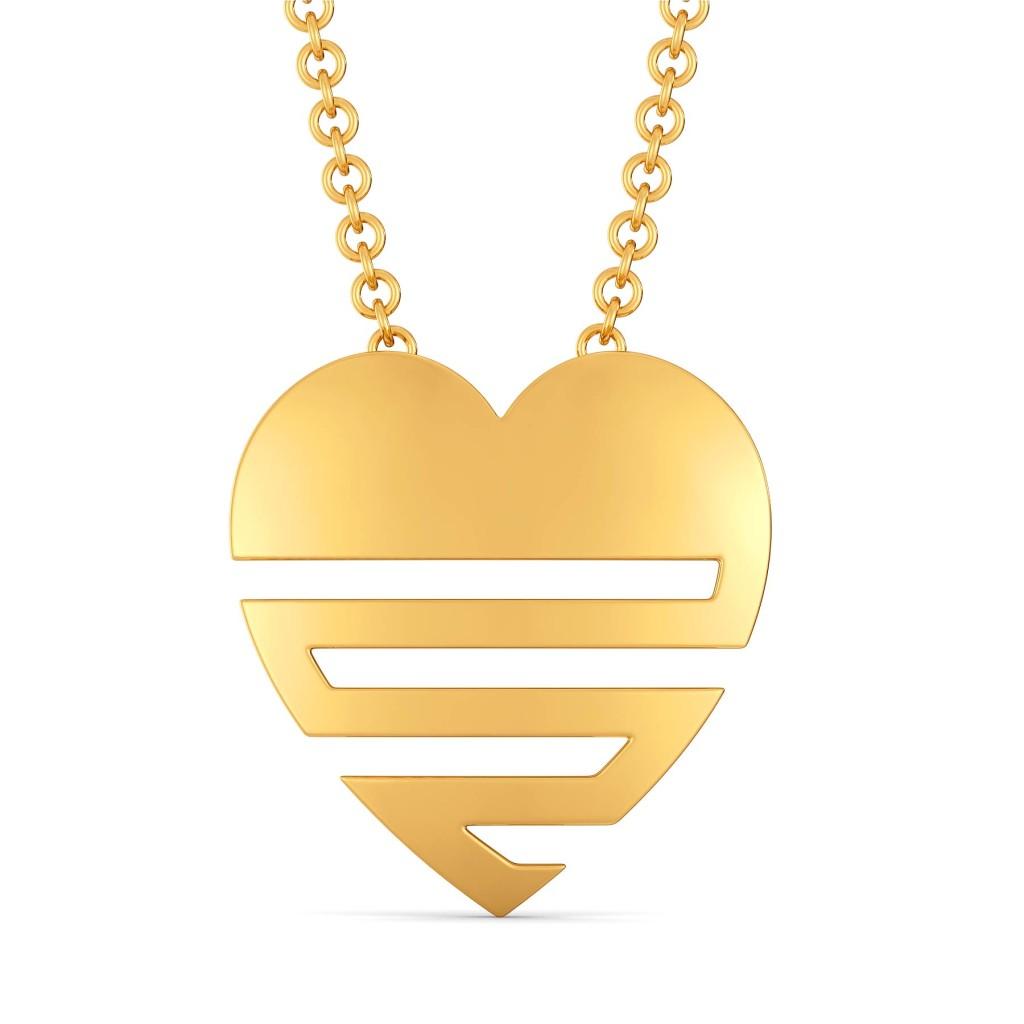 Love O Drama Gold Pendants