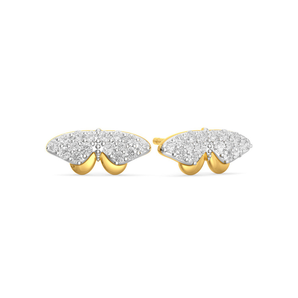 Swing a wing Diamond Earrings