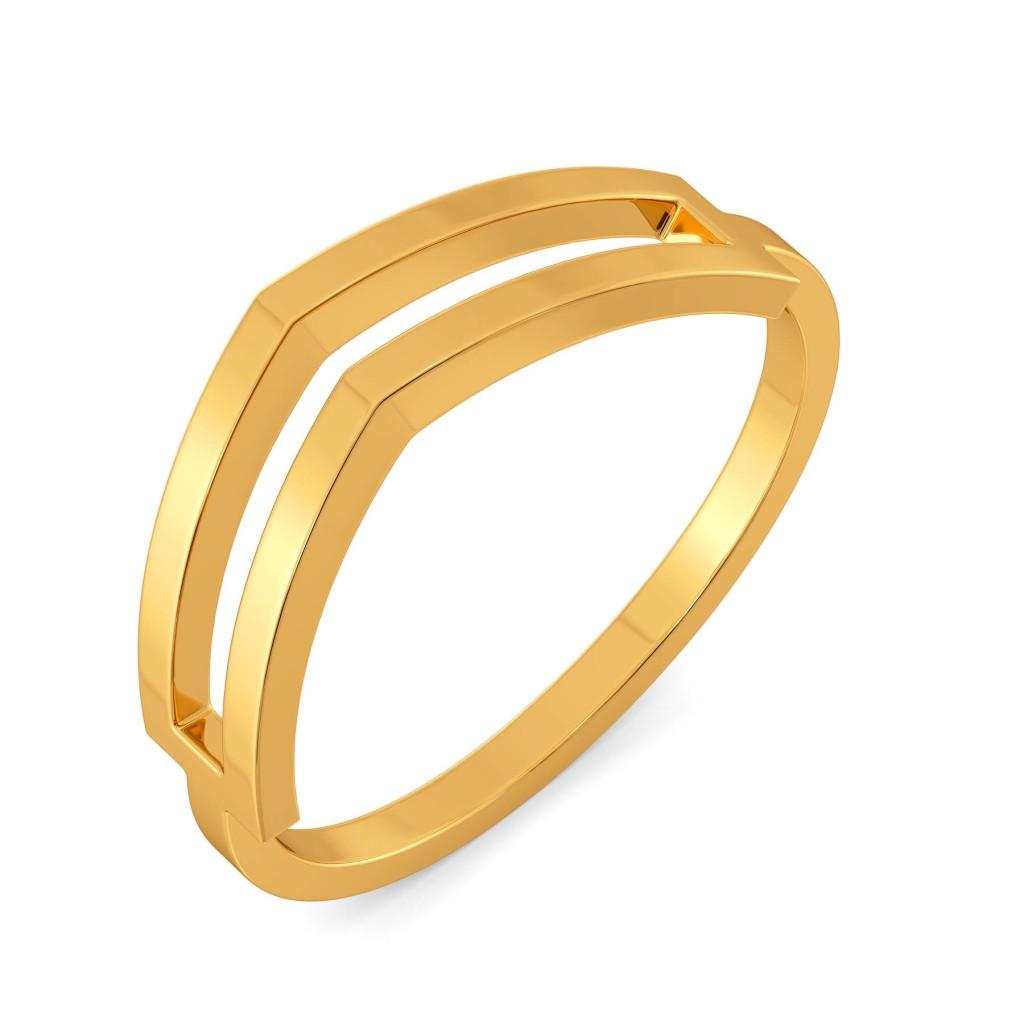 Fancy Folds Gold Rings