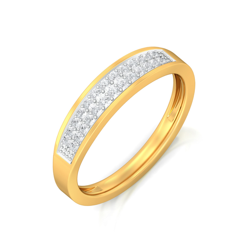 Frost on Gold Diamond Rings