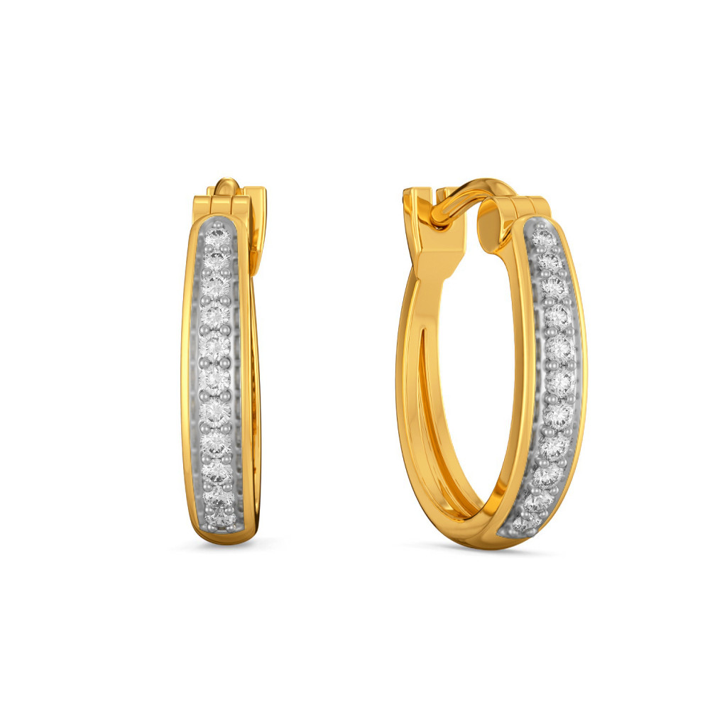 Basic Linears  Diamond Earrings