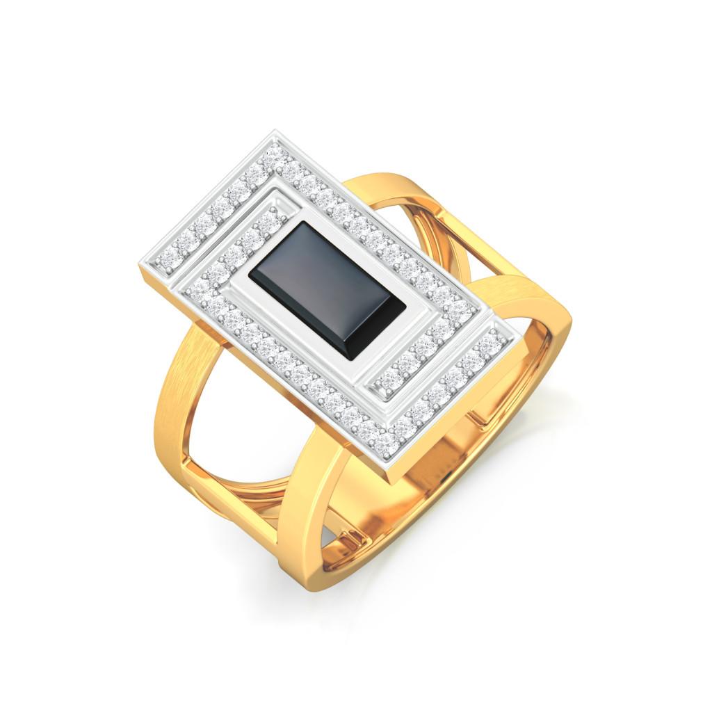 Little Black Onyx Diamond Rings