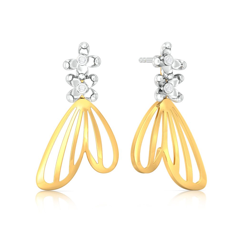 Wings of Grace Diamond Earrings
