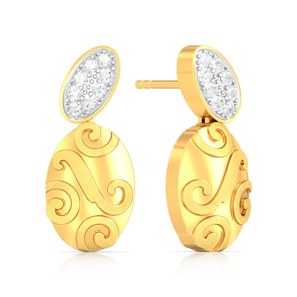 Textured Tango Diamond Earrings