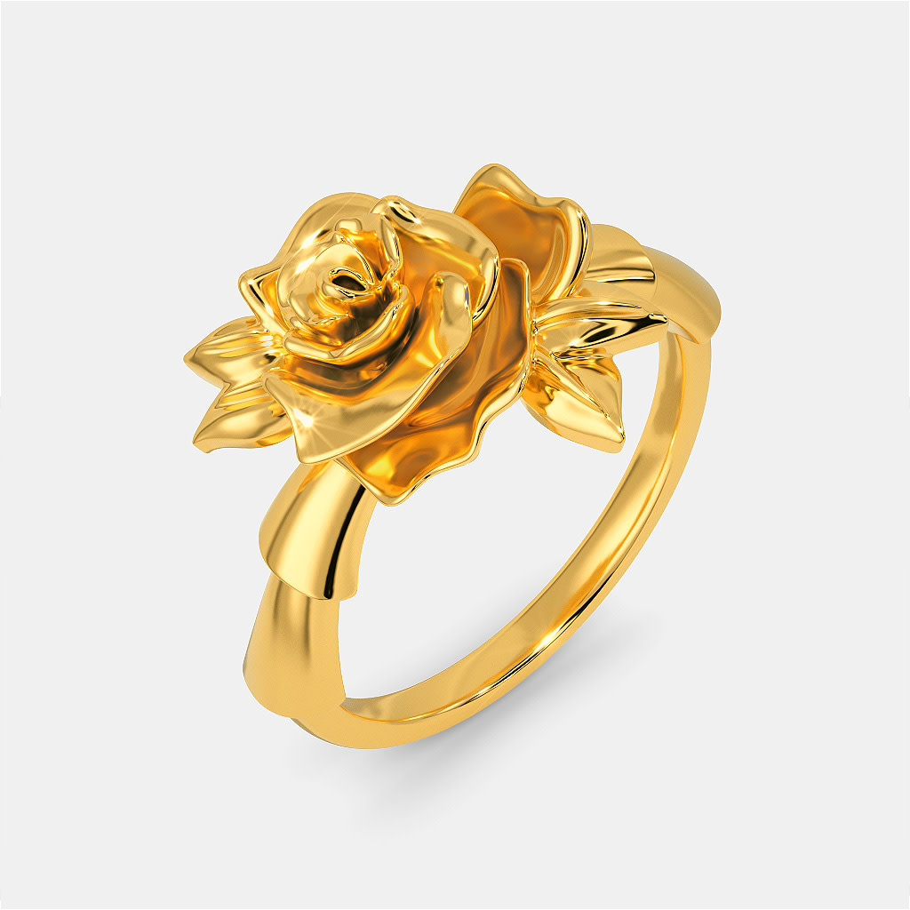 Rose Prose Gold Rings