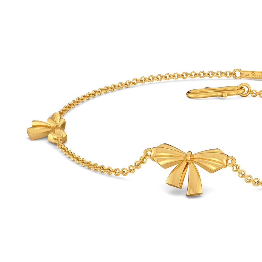 Butterfly Knots Gold Bracelets