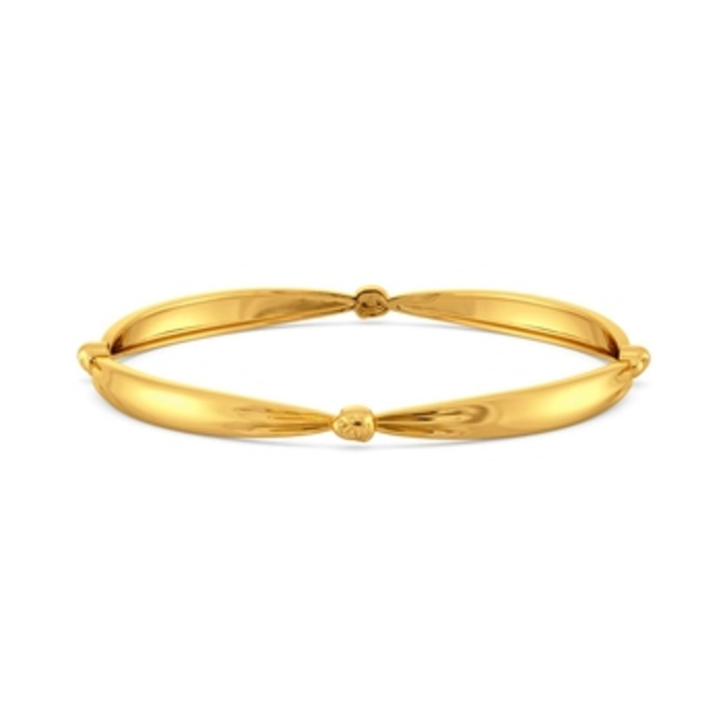Knot Plot Gold Bangles