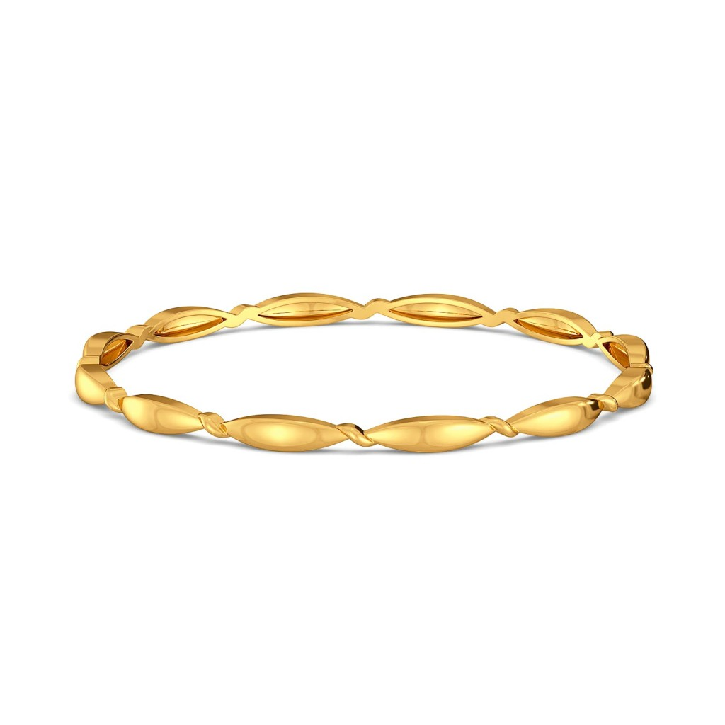 Twisters Gold Bangles