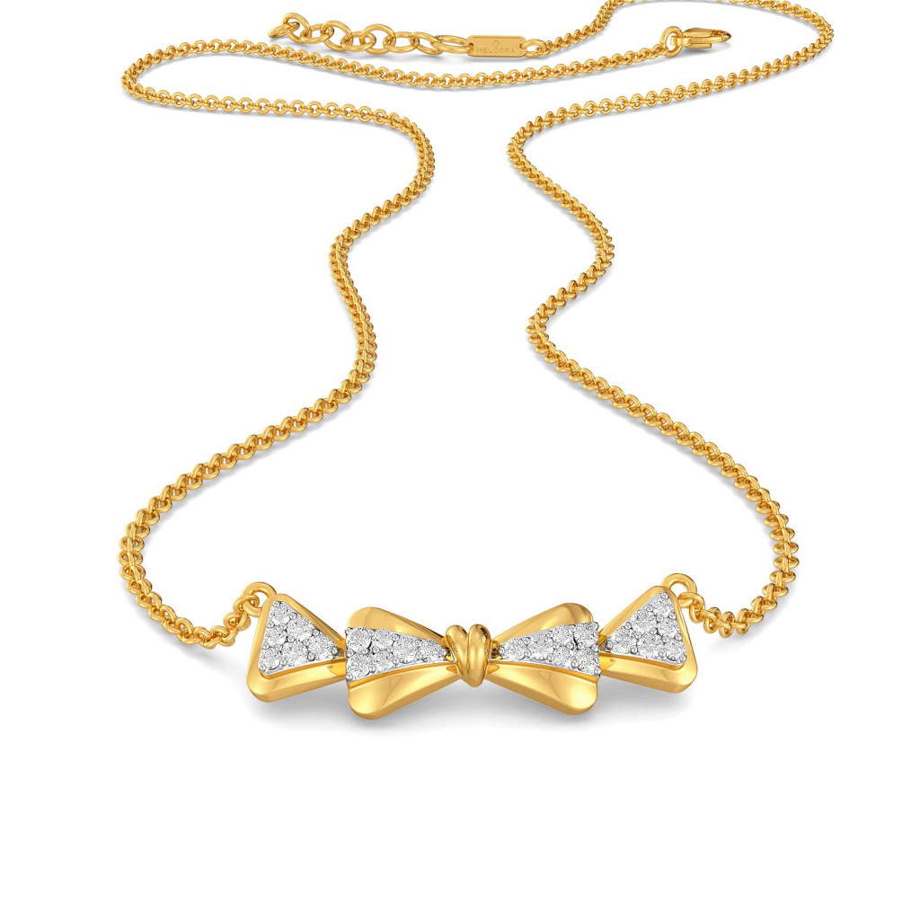 Twinkly Knots Diamond Necklaces