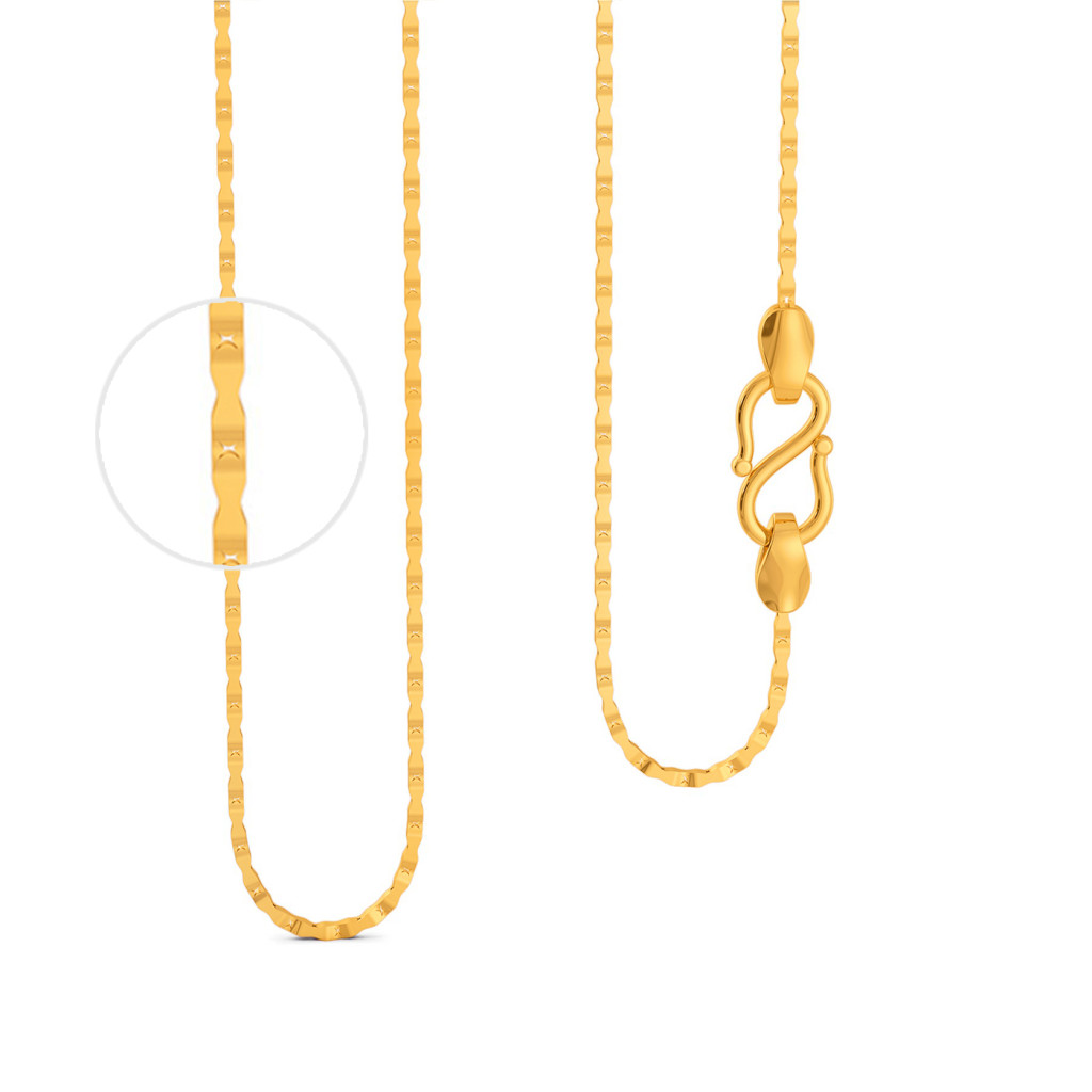 22kt Hexagonal chain Gold Chains