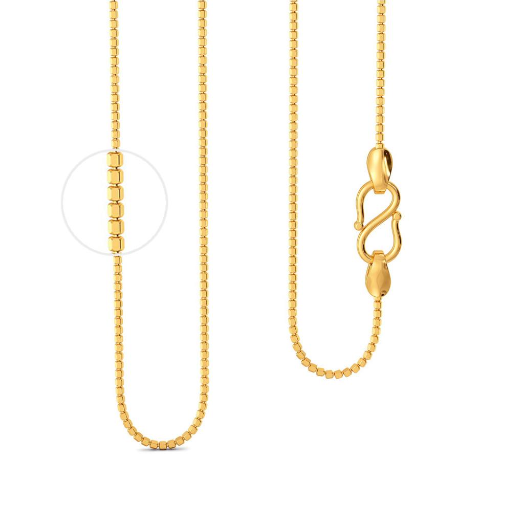 22kt Ball Cutting Chain Gold Chains