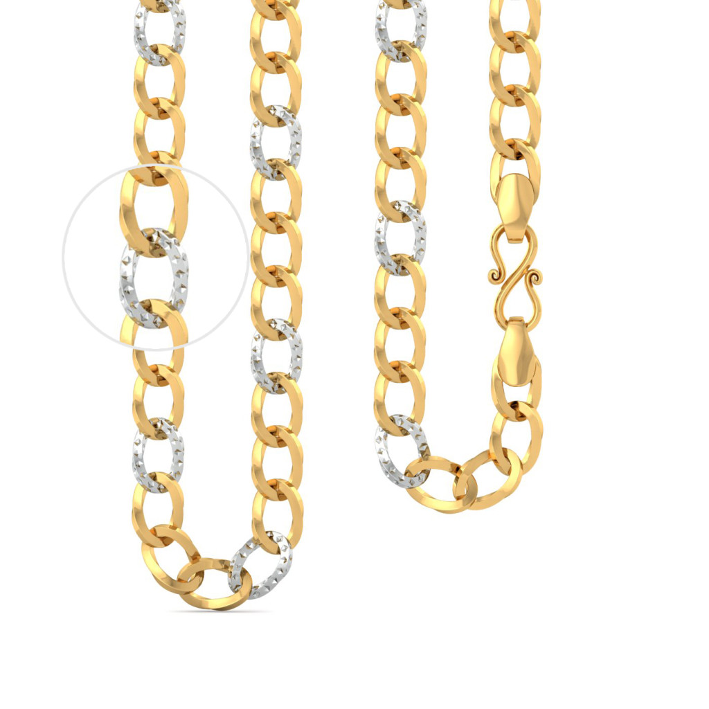 22kt Rhodium Plated Large Link Curb Chain Gold Chains