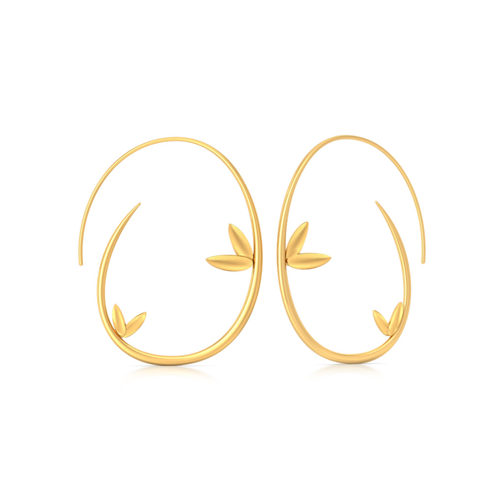 Stylised Flora Gold Earrings
