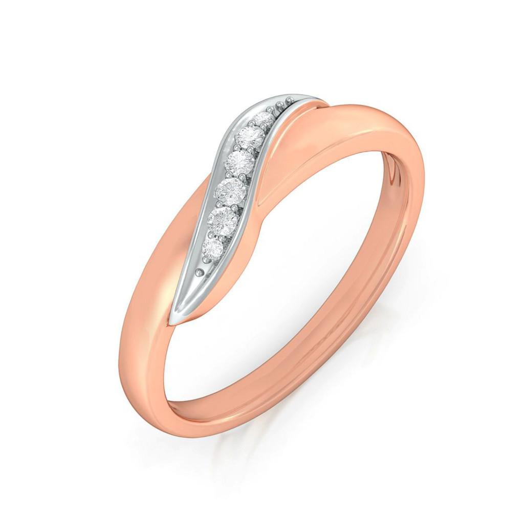 Curlicue Diamond Rings