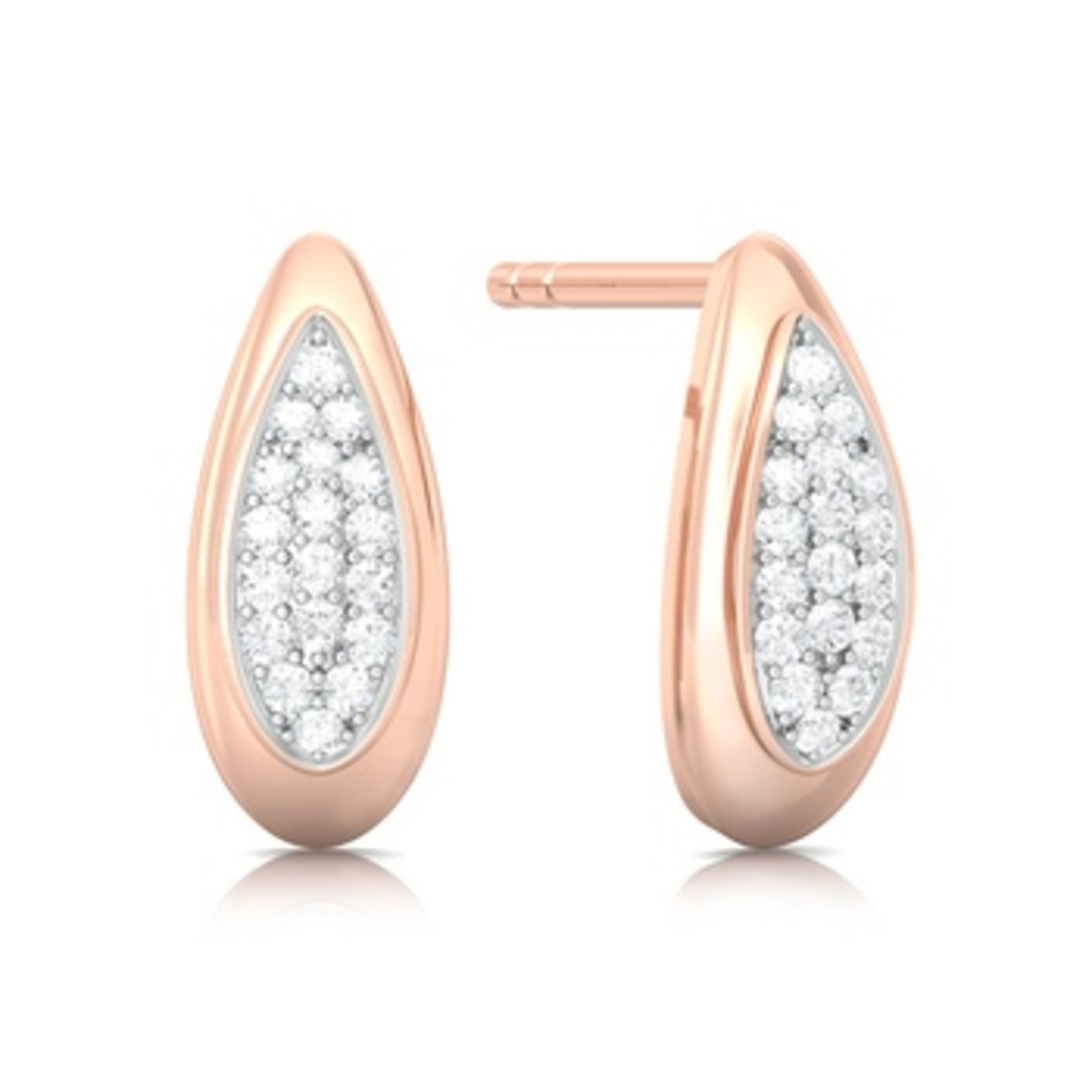 Iced Rose Diamond Earrings