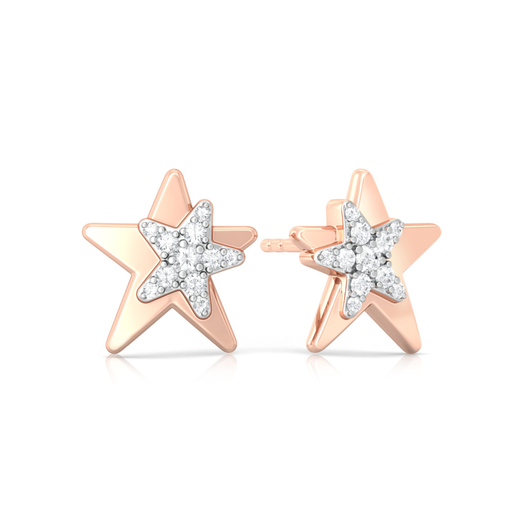 Star Love Diamond Earrings