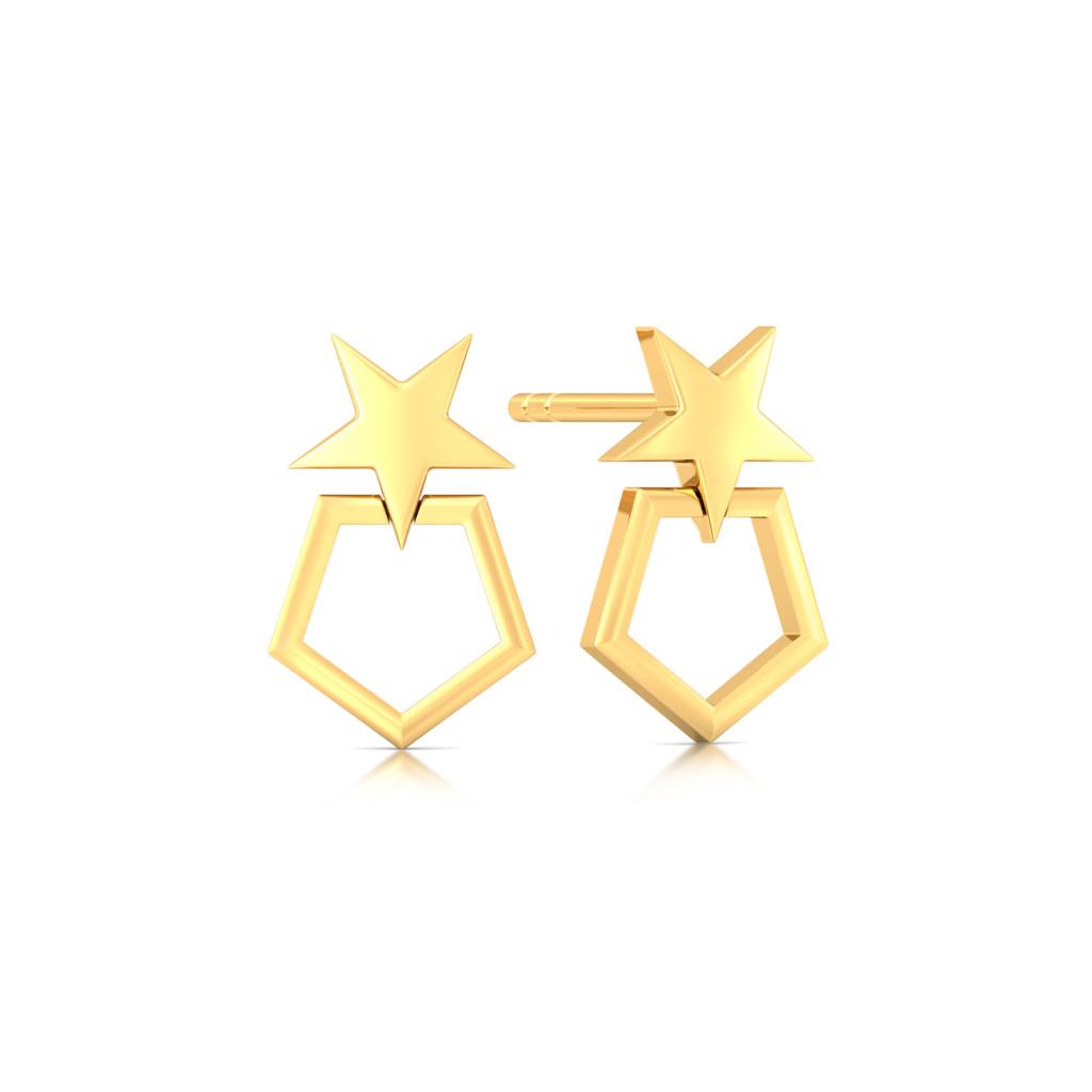 Stars Forever Gold Earrings