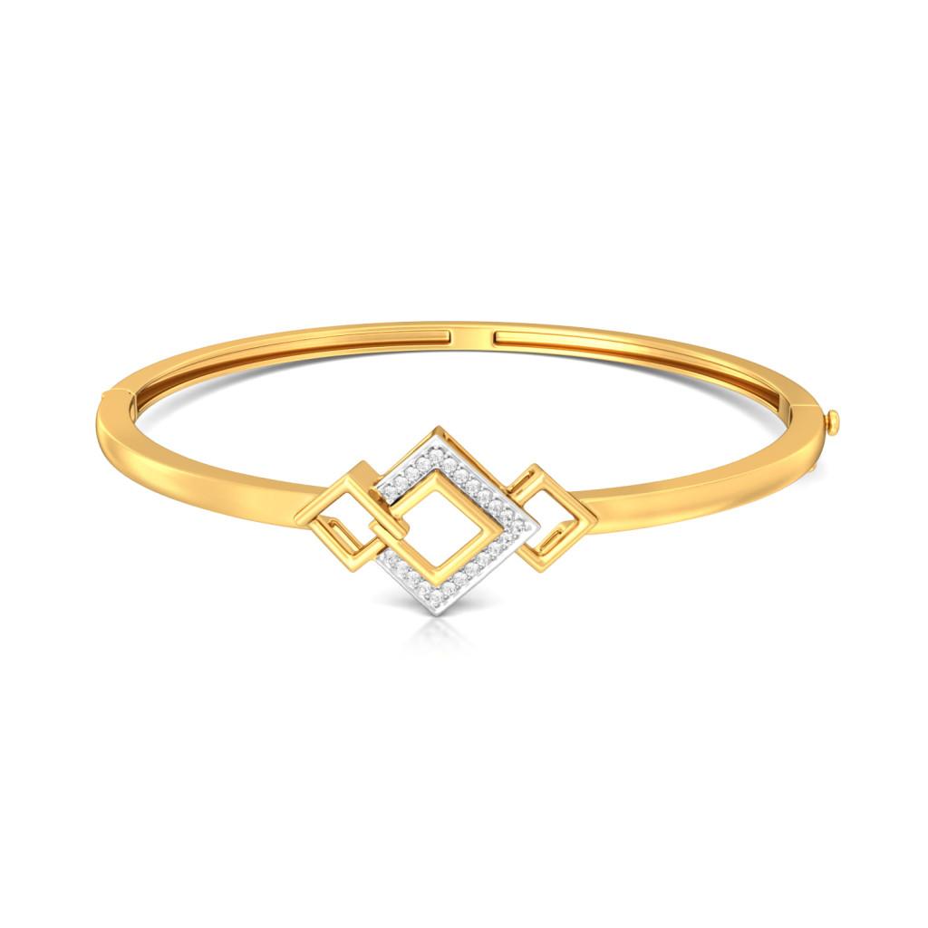 Squared away Diamond Bangles
