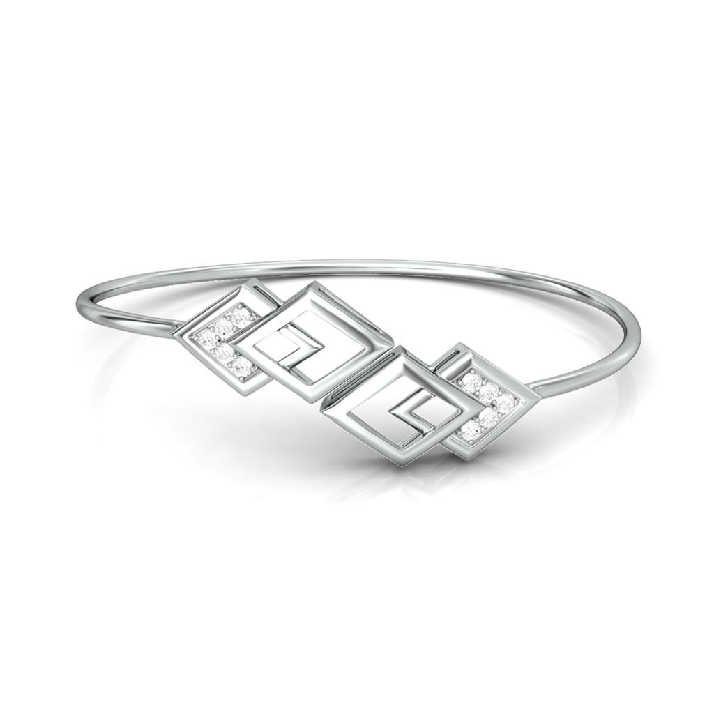 Rhombo Combo Diamond Bangles