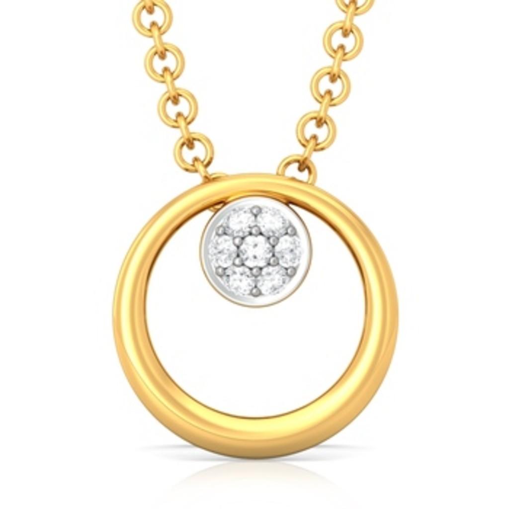 Sunflower Diamond Pendants