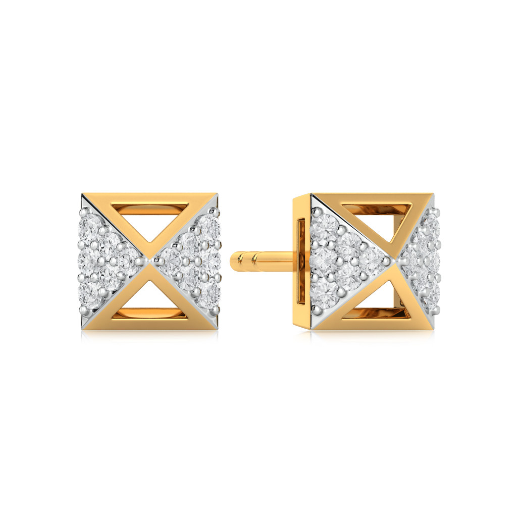 Quad Goals Diamond Earrings