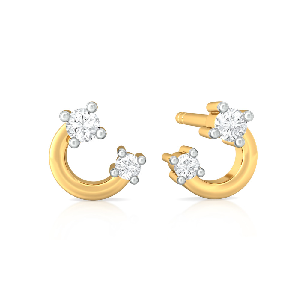 Arc Attack Diamond Earrings