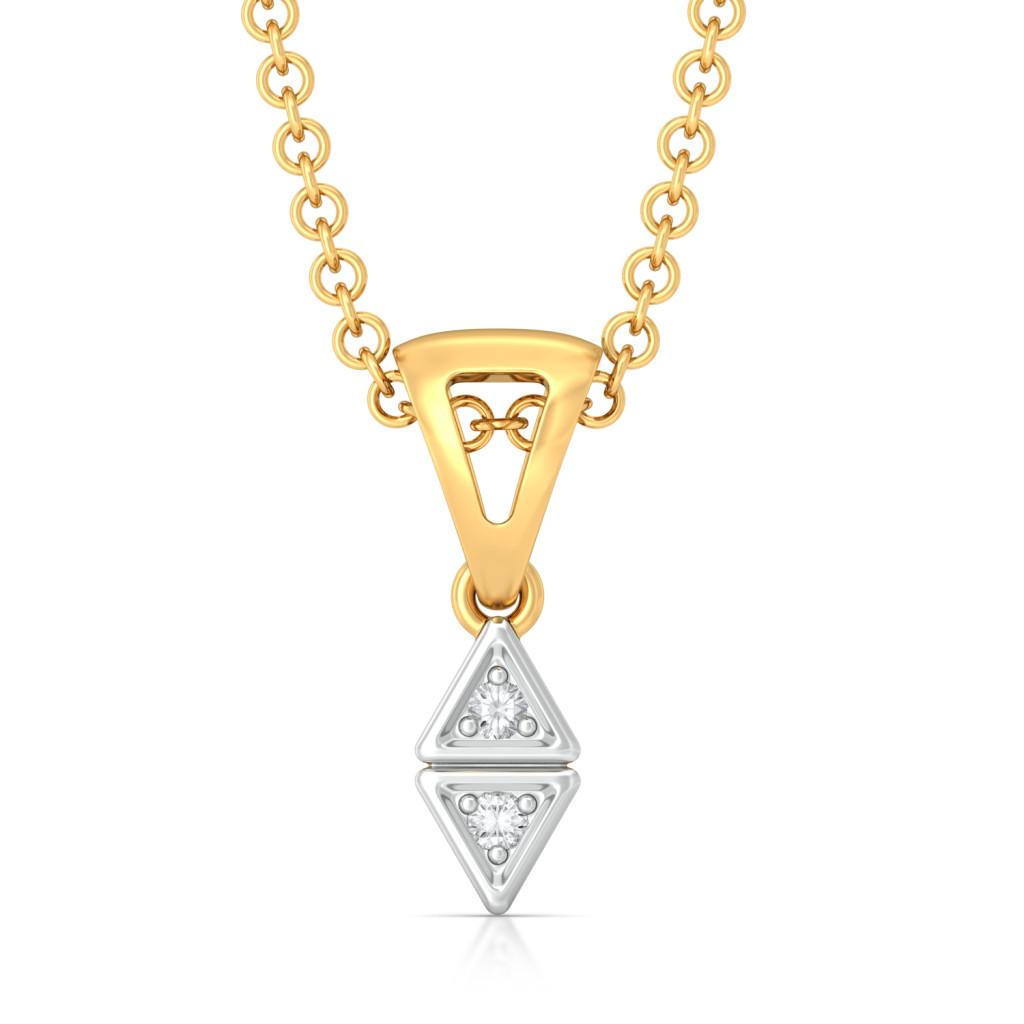 Double Nubble Diamond Pendants