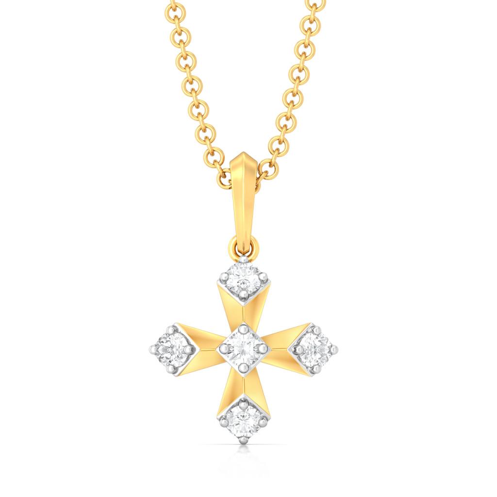 Plus Truss Diamond Pendants