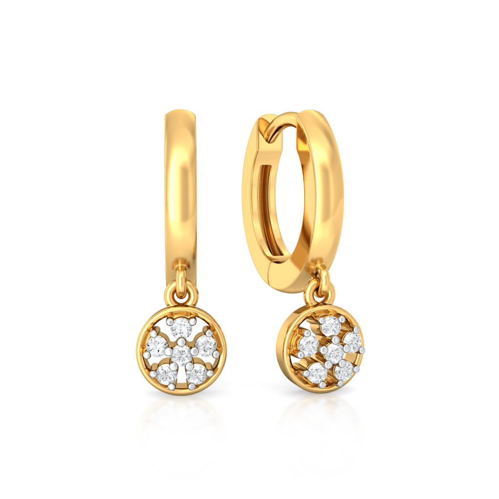 Wheel Deal Diamond Earrings