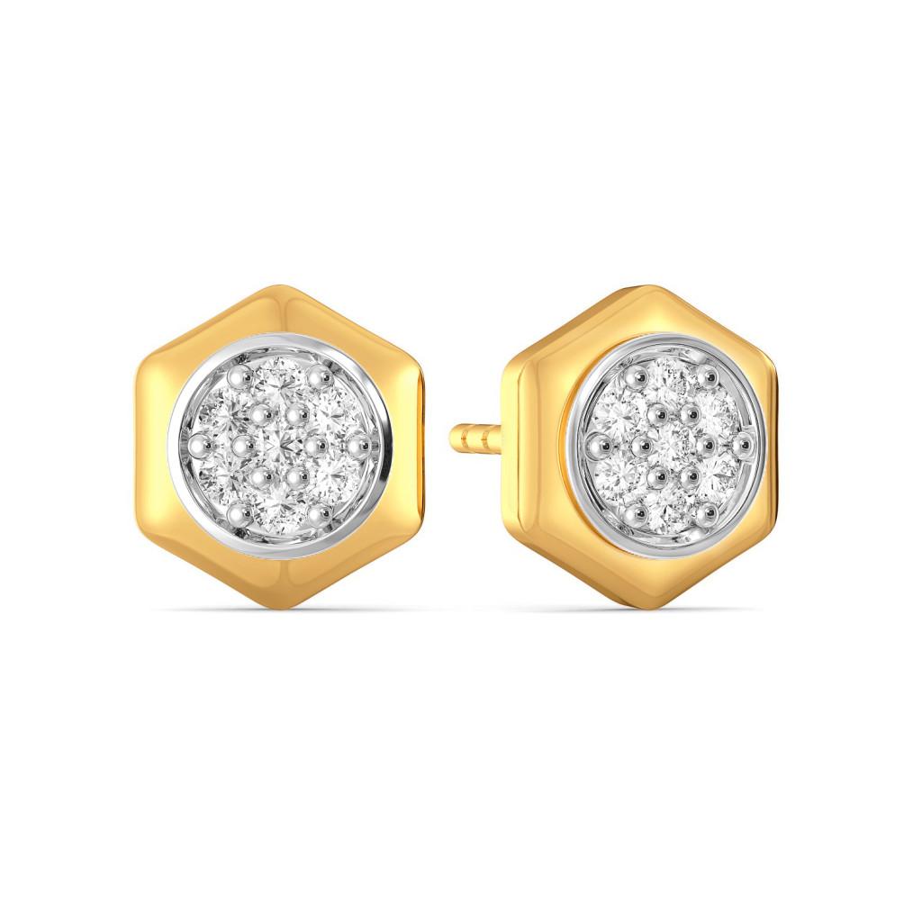 The Six Mix Diamond Earrings