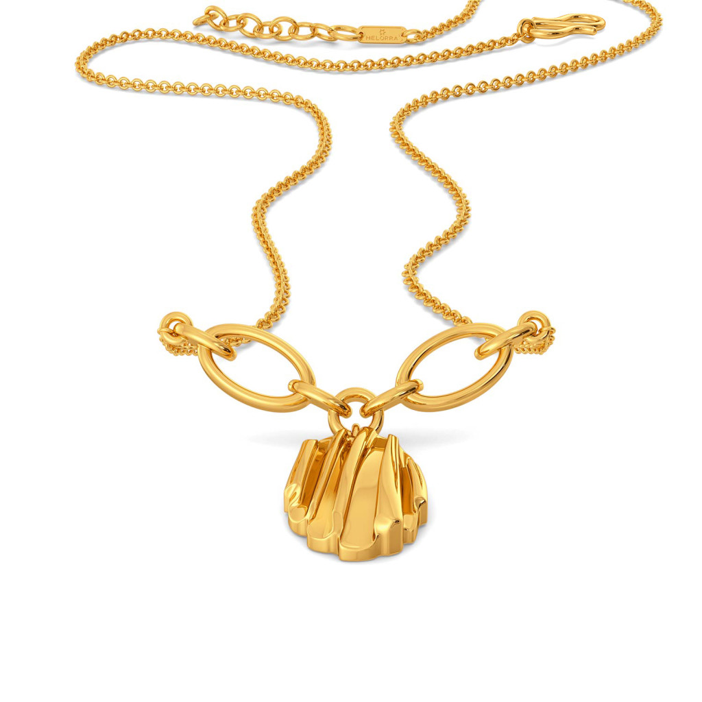 Ruffle Truffle Gold Necklaces