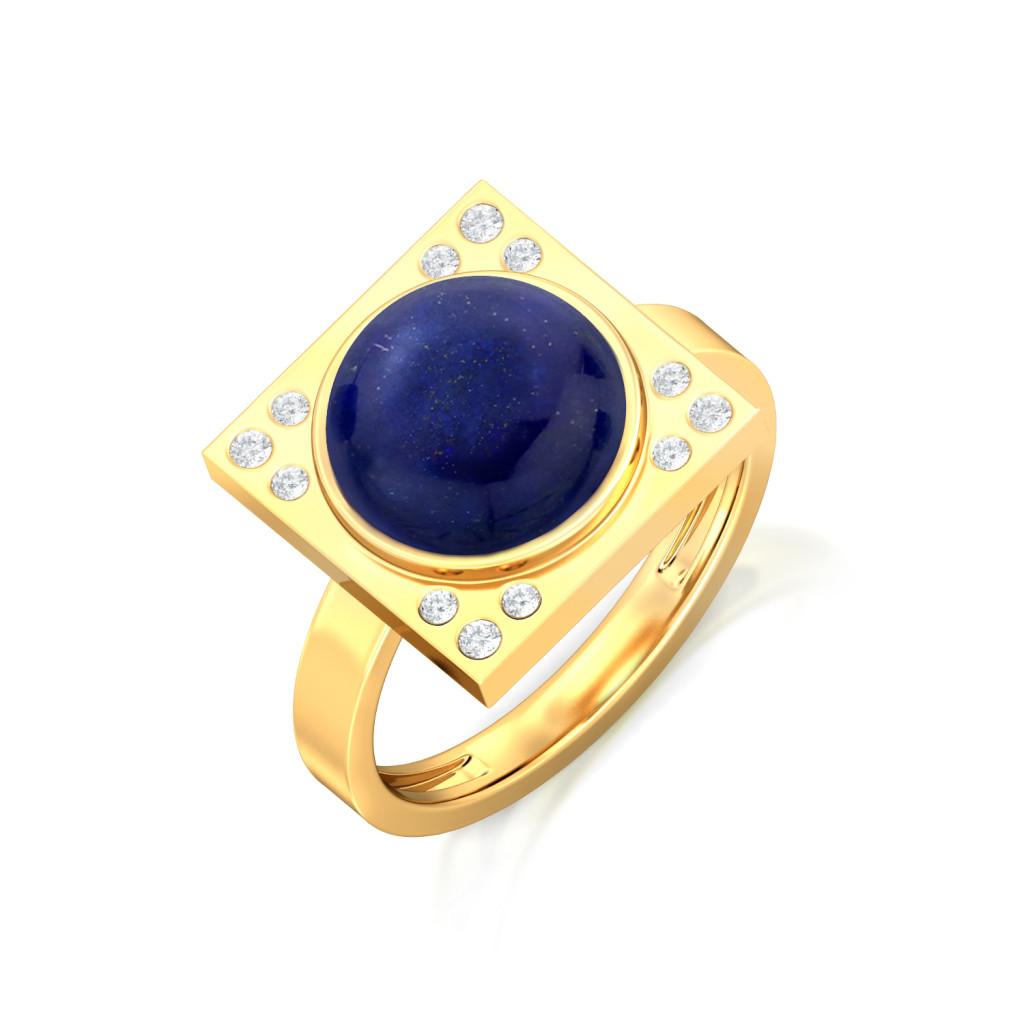 Blue Moon Rising Diamond Rings