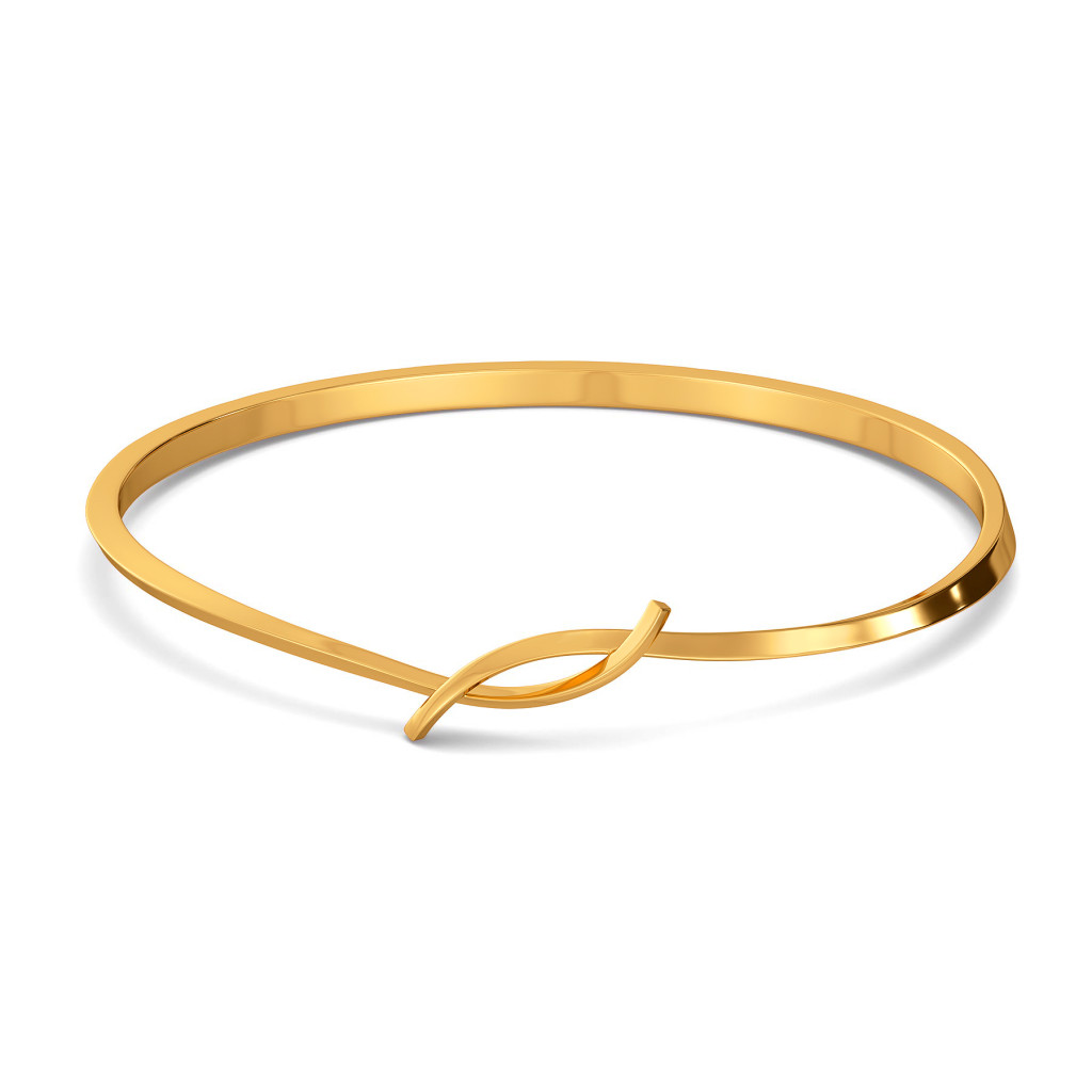 Simple Swirls Gold Bangles