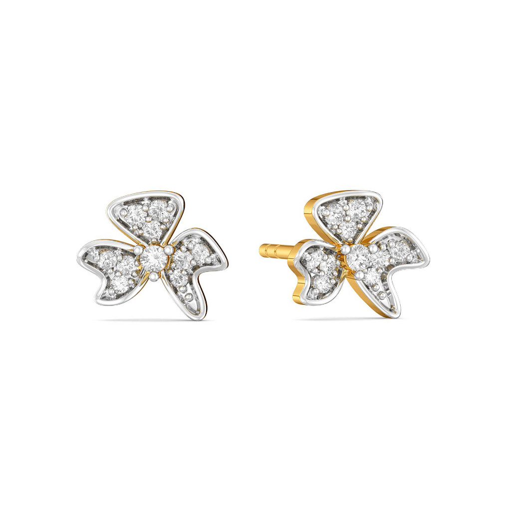Frilly Lily Diamond Earrings