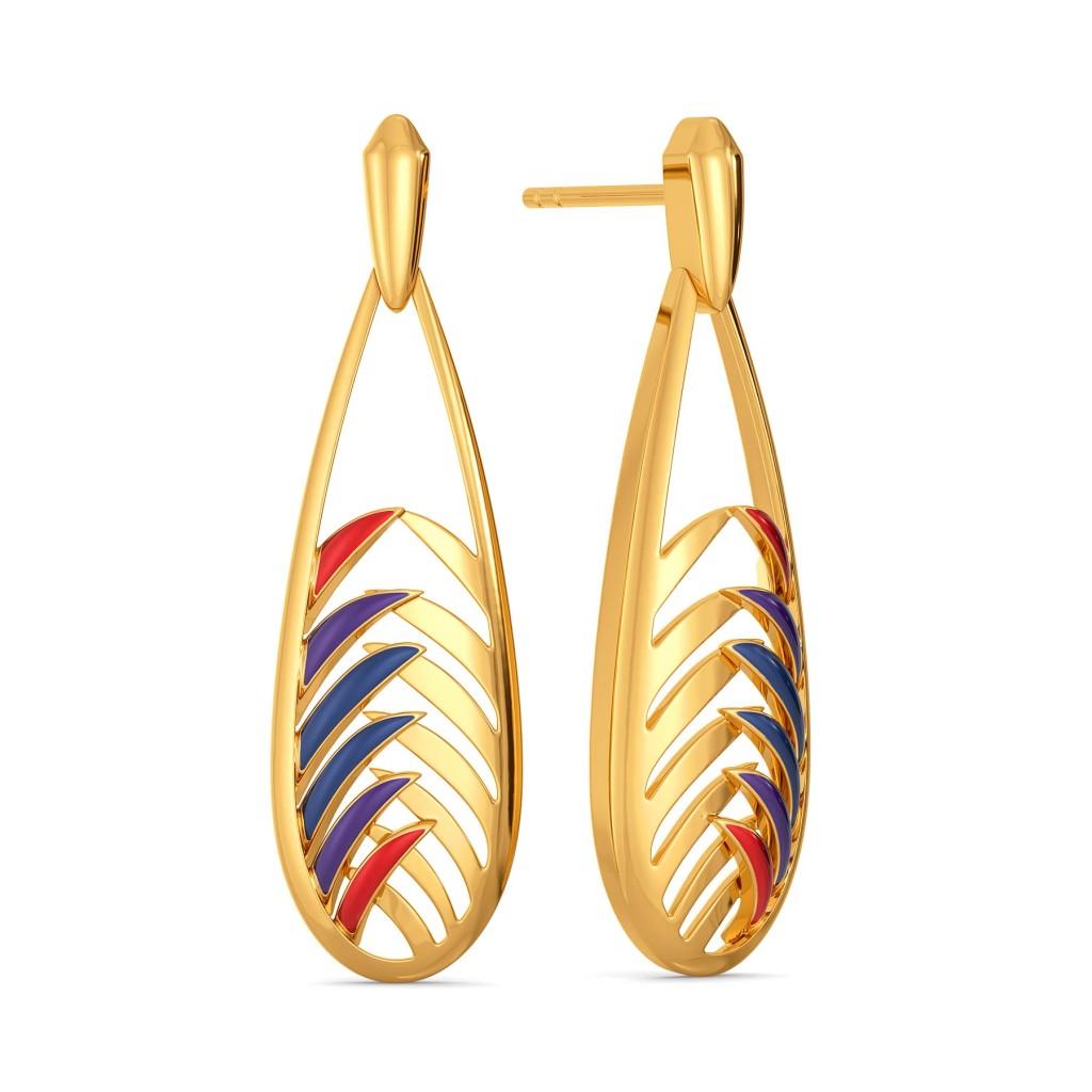 Plume Palette Gold Earrings