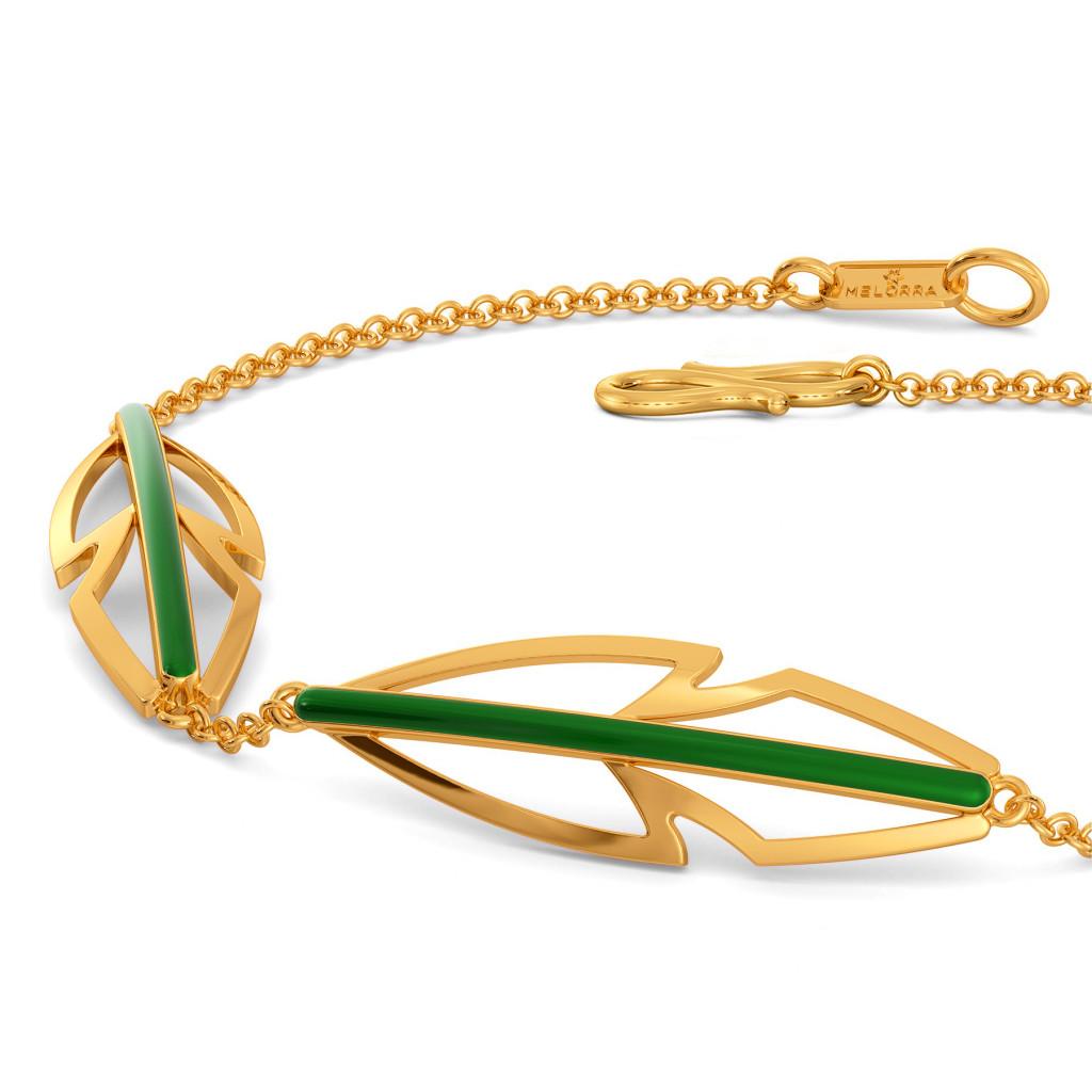 Green Preen Gold Bracelets