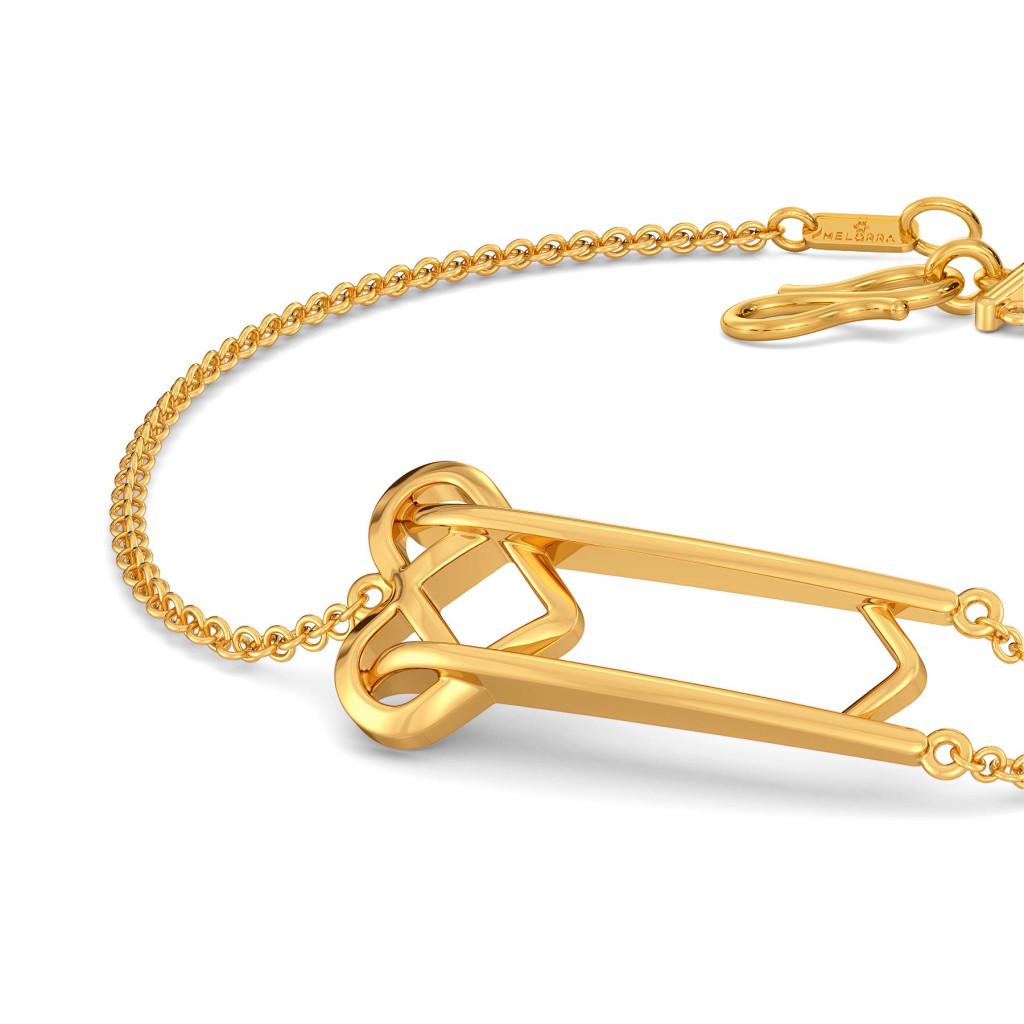 Knot A Fringe Gold Bracelets