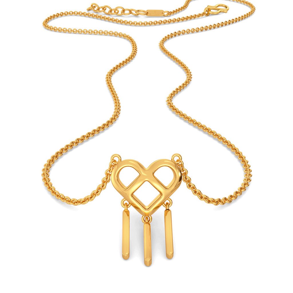 Knot A Fringe Gold Necklaces