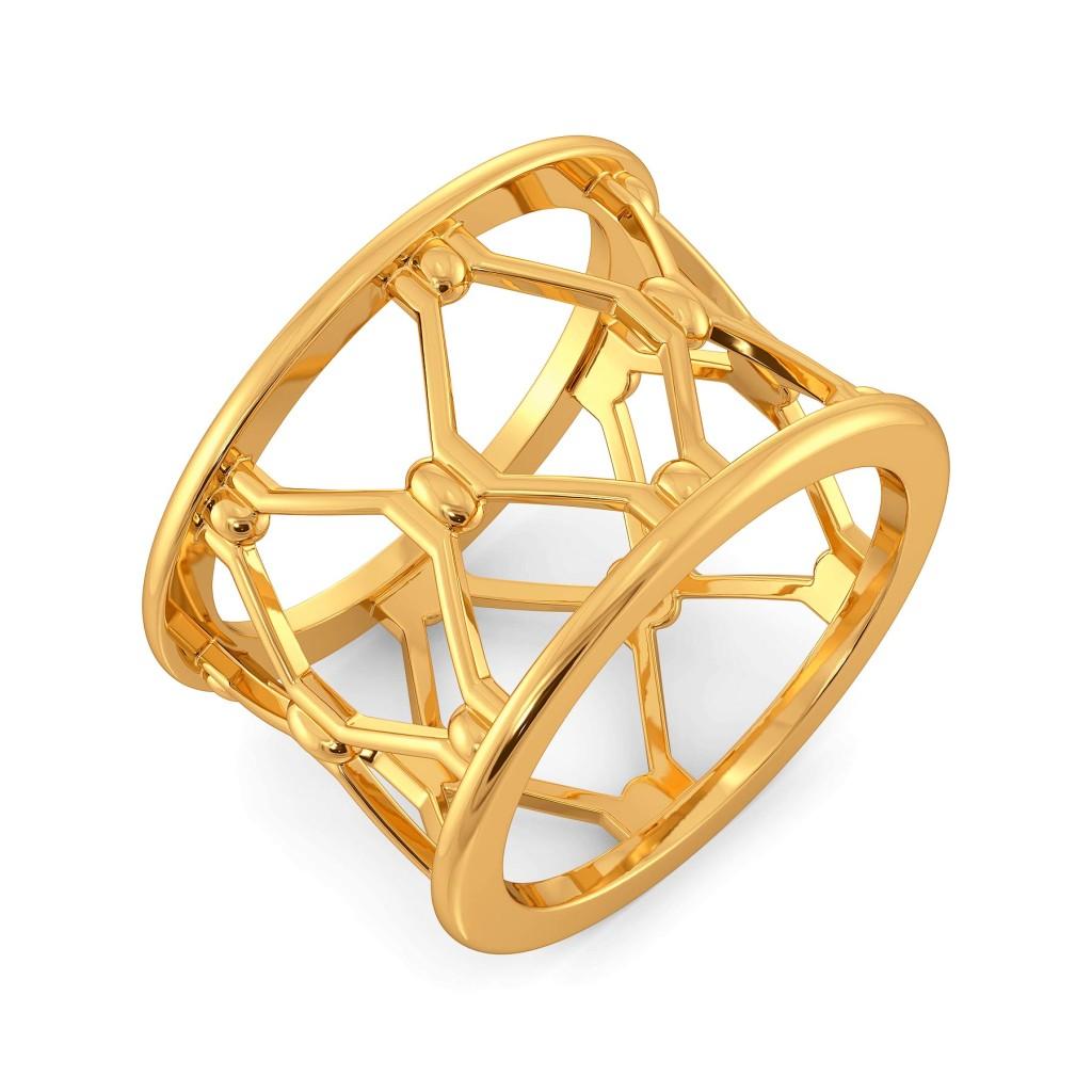 Hippie Net Gold Rings