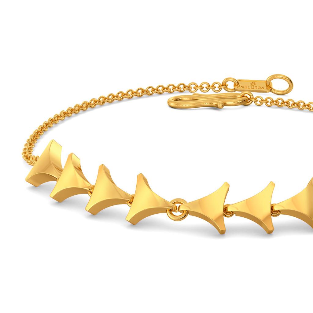 Mesh On My Mind Gold Bracelets