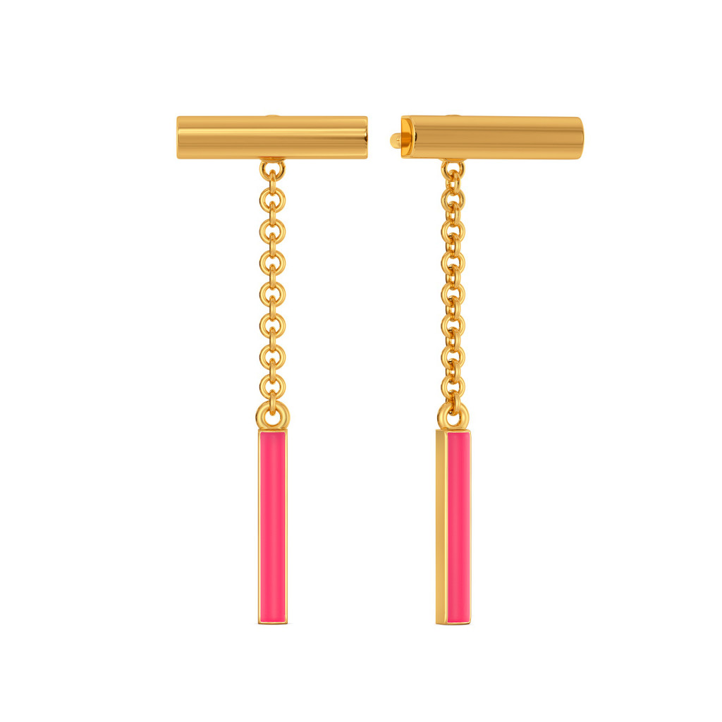 Top to Tone Gold Earrings